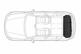 Коврик багажника полиуретановый для VOLKSWAGEN Terramont (7 SEATS) с 2018- г.в.