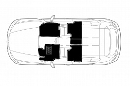 Коврики салона, Volkswagen Teramont 2018-